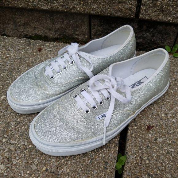 Vans Shoes   Shimmer Silver Glitter